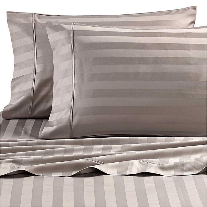Alternate image 1 for Wamsutta® Dream Zone® Stripe 1000-Thread Count-PimaCott® Pillowcases (Set of 2)