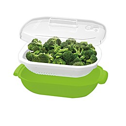 Cuisinart® 3-Piece Plastic Steamer Set in Green/White
