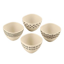 Cuisinart® Bamboo Fiber Food Prep Bowls in White/Black (Set of 4)