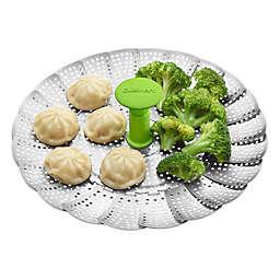 Cuisinart® Stainless Steel Steamer Basket in Stainless Steel/Green