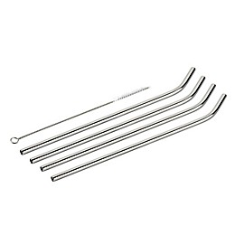 Cuisinart® 6-Piece Stainless Steel Straw Set