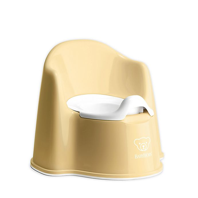 Alternate image 1 for BABYBJÖRN Potty Chair in Powder Yellow/White
