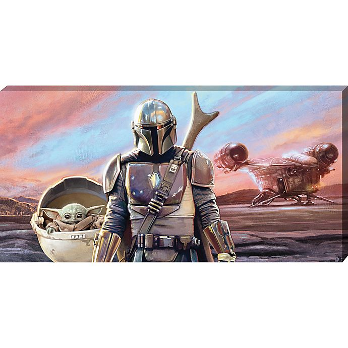 Alternate image 1 for Star Wars™ The Mandalorian Baby Yoda 15-Inch x 30-Inch Canvas Wall Art