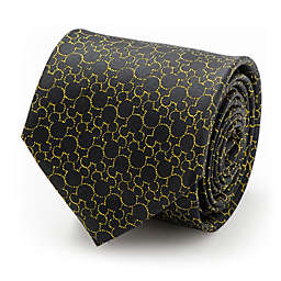 Disney® Mickey's Compact Silhouette Men's Necktie in Black