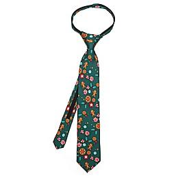 Disney® Nutcracker Peppermint Boy's Zipper Necktie in Green