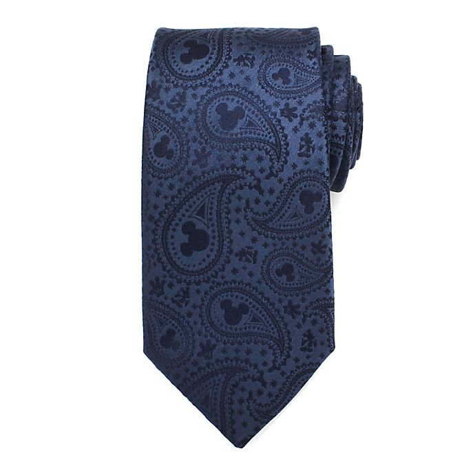 Alternate image 1 for Disney® Mickey Mouse Paisley Men's Necktie in Navy