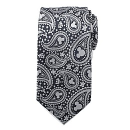Disney® Mickey Mouse Paisley Men's Necktie in Grey