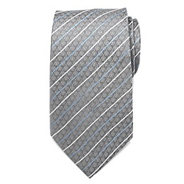 Star Wars™ Darth Vader Modern Stripe Men's Necktie in Grey