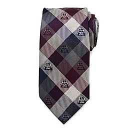 Star Wars™ Darth Vader Plum Modern Plaid Men's Necktie