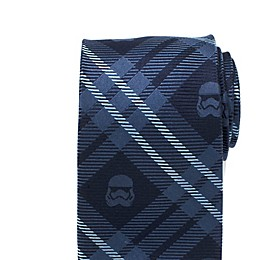 Star Wars™ Stormtrooper Navy Plaid Men's Necktie