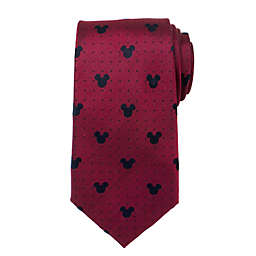 Disney® Mickey Mouse Pin Dot Men's Necktie in Red