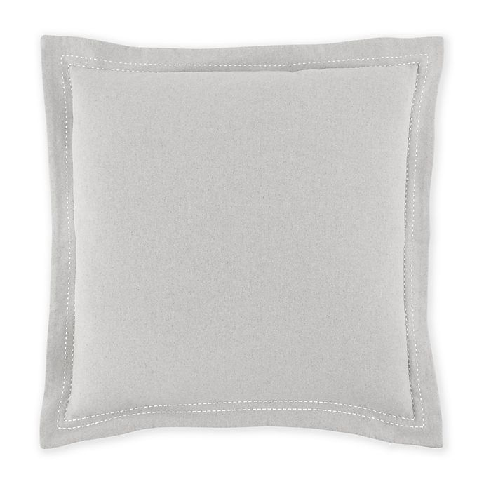 Alternate image 1 for Nautica® Seaford European Pillow Sham in Grey