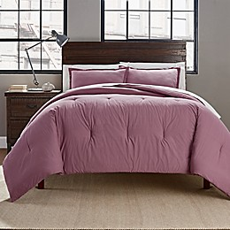 Garment Washed Solid Pintuck 3-Piece Comforter Set