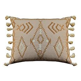 Global Caravan Rabat Embroidered Oblong Throw Pillow