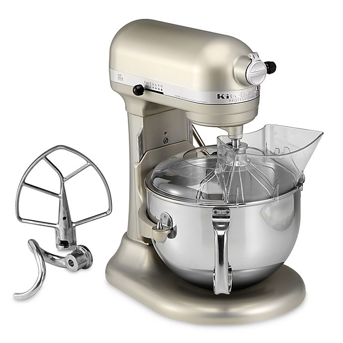 Alternate image 1 for KitchenAid® Professional 600™ Series 6-Quart Bowl Lift Stand Mixer in Nickel Pearl