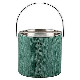 Kraftware™ Exotic Peacock 3 qt. ice Bucket with Metal Lid