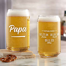 EST Printed Personalized 16 oz. Beer Can Glass