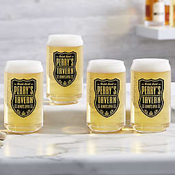 Beer Label Personalized 16 oz. Beer Can Glass