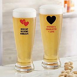 Your Icon Personalized Valentine's Day 20 oz. Pilsner Glass
