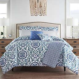 Waverly® Medallion 10-Piece California King Comforter Set in Blue