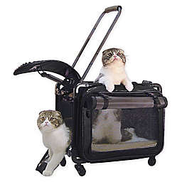 Tutto Wheeled Pet Carrier in Black