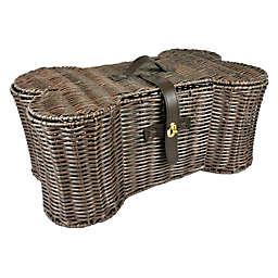 Dii® Bone Dry Bone Shaped Large Dog Toy Basket in Brown