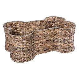 Bone Dry Hyacinth Bone Pet Basket in Tan