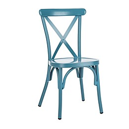 Safavieh Axton Metal All-Weather Stackable Chairs (Set of 2)