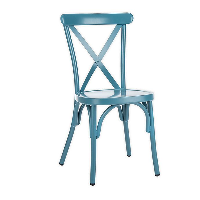 Alternate image 1 for Safavieh Axton Metal All-Weather Stackable Chairs (Set of 2)