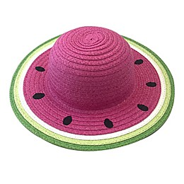 Toby Fairy™ Newborn Watermelon Sun Hat in Pink/Green