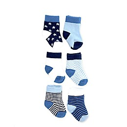 NYGB™ 6-Pack Stars and Stripes Socks in Blue