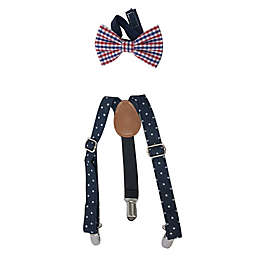 Toby Fairy™ 2-Piece Suspender and Bow Tie Set in Navy