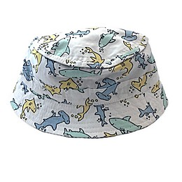 Toby Fairy™ Shark/Seersucker Reversible Porkpie Hat in White