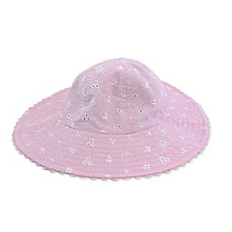 Toby Fairy™ Eyelet/Seersucker Reversible Sun Hat in Magenta