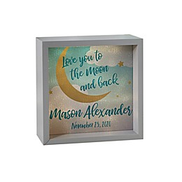 Over the Moon Personalized LED Light Shadow Box Collection