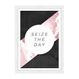 Wynwood Studio Seize The Day Framed Wall Art in Black