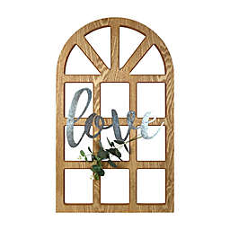 """Prinz """"Love"""" Cathedral Window Wall Art in Brown"""