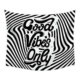 RoomMates® Good Vibes Swirl 52-Inch x 60-Inch Tapestry in Black/White