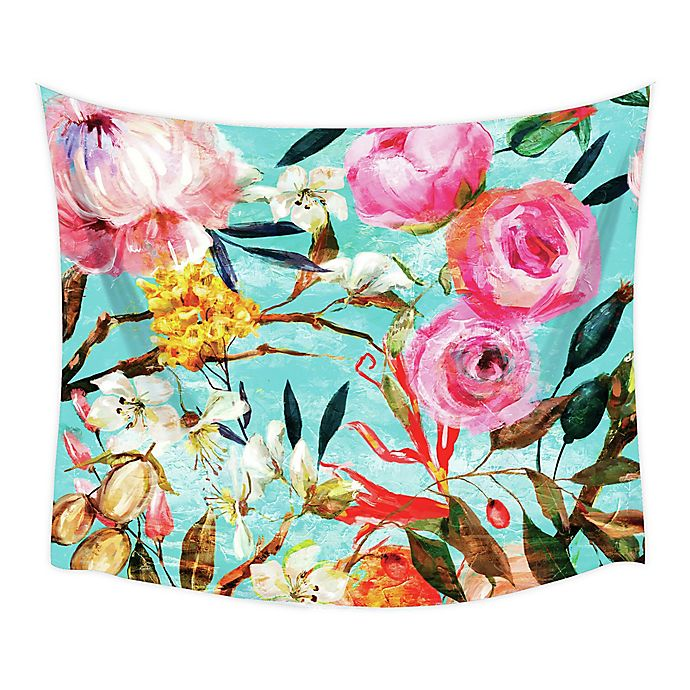 Alternate image 1 for RoomMates® Floral Oil Paint 52-Inch x 60-Inch Large Tapestry