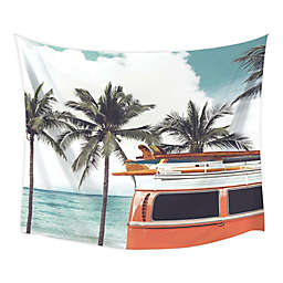 RoomMates® Surf Van Tapestry in Orange