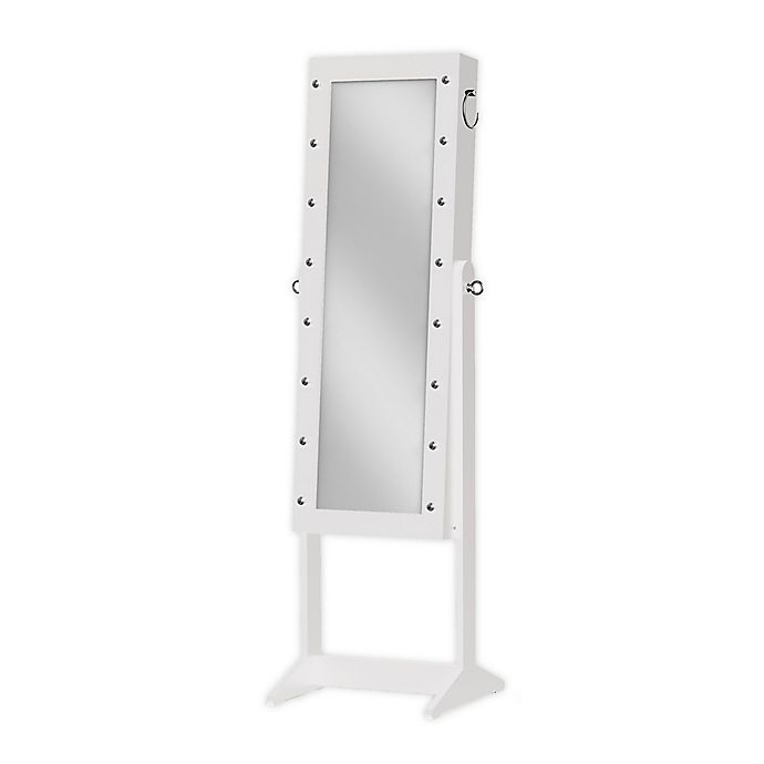 Alternate image 1 for Prinz 16-Inch x 43-Inch Marquee Freestanding Jewelry Cabinet with Mirror