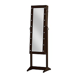 Prinz 16-Inch x 43-Inch Marquee Freestanding Jewelry Cabinet with Mirror