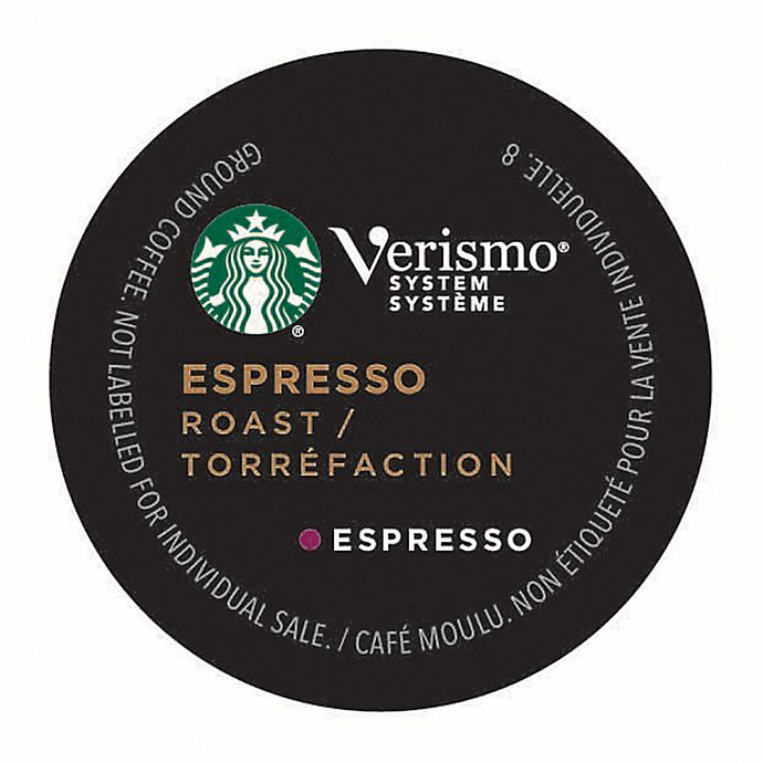 Alternate image 1 for Starbucks® Verismo® 12-Count Espresso Roast Espresso Pods