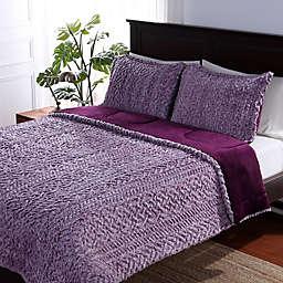 Berkshire Blanket® Sherpa 3-Piece Reversible Comforter Set