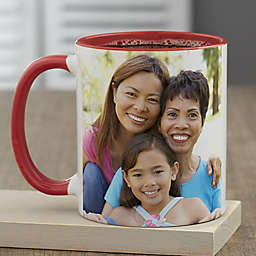 Photo Personalized 11 oz. Coffee Mug for Her in Red