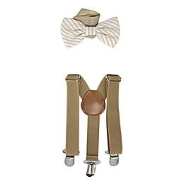 Toby Fairy™ 2-Piece Suspender and Bow Tie Set in Sand