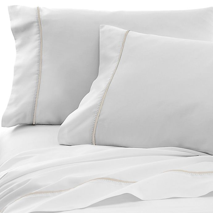 Alternate image 1 for Under The Canopy® Hemstitch 300-Thread-Count Pillowcases (Set of 2)