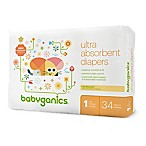 Babyganics® 34-Count Size 1 Jumbo Ultra Absorbent Diapers
