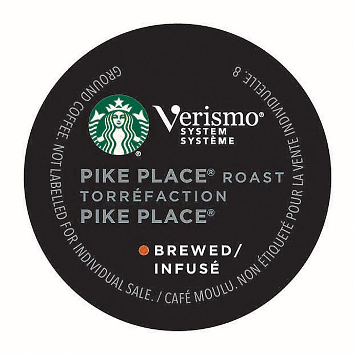 Alternate image 1 for Starbucks® Verismo® 12-Count Pike's Place® Brewed Coffee Pods