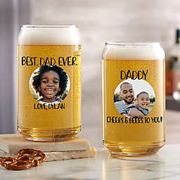 Photo Message For Him Personalized 16oz. Beer Can Glass